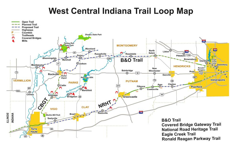 Central Indiana Map.Nrht Maps